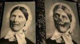EFFEKTBILD - UNHEIMLICHE GROßMUTTER - Wechsel-Bild Zombie Halloween-Deko
