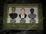 MONSTER LEGACY COLLECTION Frankenstein Dracula Wolf Man Büsten Set Sideshow Collectibles