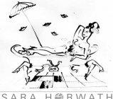 FUNNYBATH - Tusche auf Papier von Sara Horwath in DIN A3