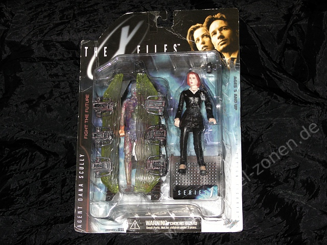 X-FILES AGENT SCULLY + HUMAN HOST + CRYOPOD CHAMBER - Serie 1 Set - Akte X Actionfiguren