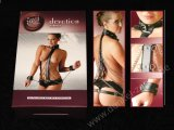 BRUSTHARNESS - Leder Ketten - Brust-Geschirr - Bondage Body Harness v. Fetish Collection