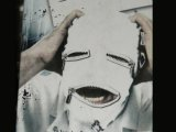 WEIßE MASKE *SPANDEX ZIPPER* - Klinik Doktorspiele - Irrer Verrückter Killer - Mask Hood