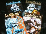 LADY DEATH #1/2 + 1-3 -Miniserie Chromcover v. Chaos! Sexy Comic